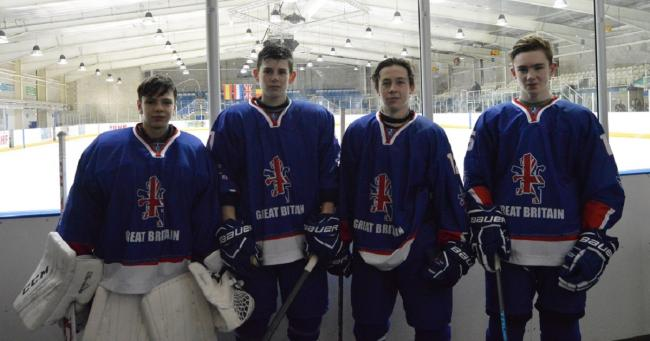 Bradford's Great Britain under-16 quartet, from left: Harrison Walker, Jordan Griffin, Kieran Brown and Jacob Lutwyche