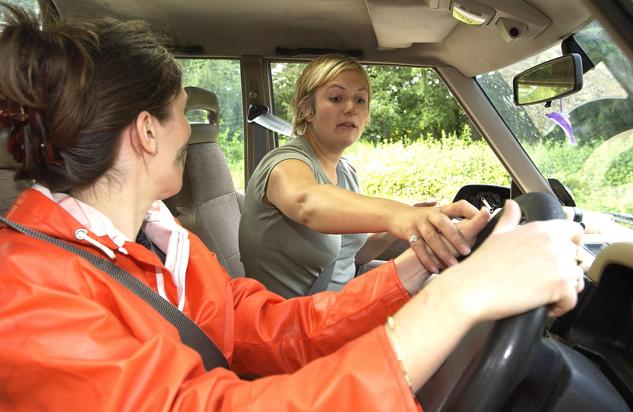 Rebecca Hoare, of the Parkwood 4x4 centre in Tong, giving instruction to reporter Sally Clifford for a feature published in the T&A in 2007