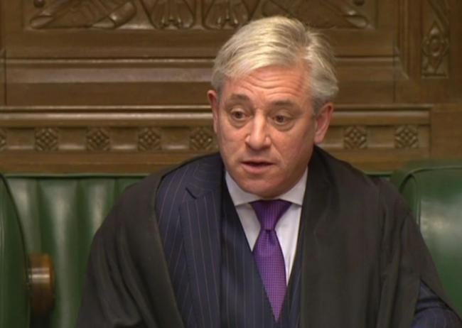 commons Speaker John Bercow. Picture: PA/PA Wire