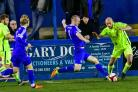 James Walshaw started his competitive season with a brace for Farsley Celtic