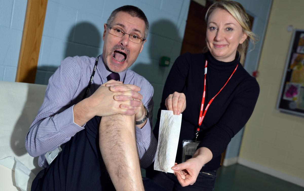 Video Male Students And Staff At Bradford School Get Legs Waxed For Charity