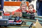 Visitors at a Keighley Model Railway Club show earlier this year
