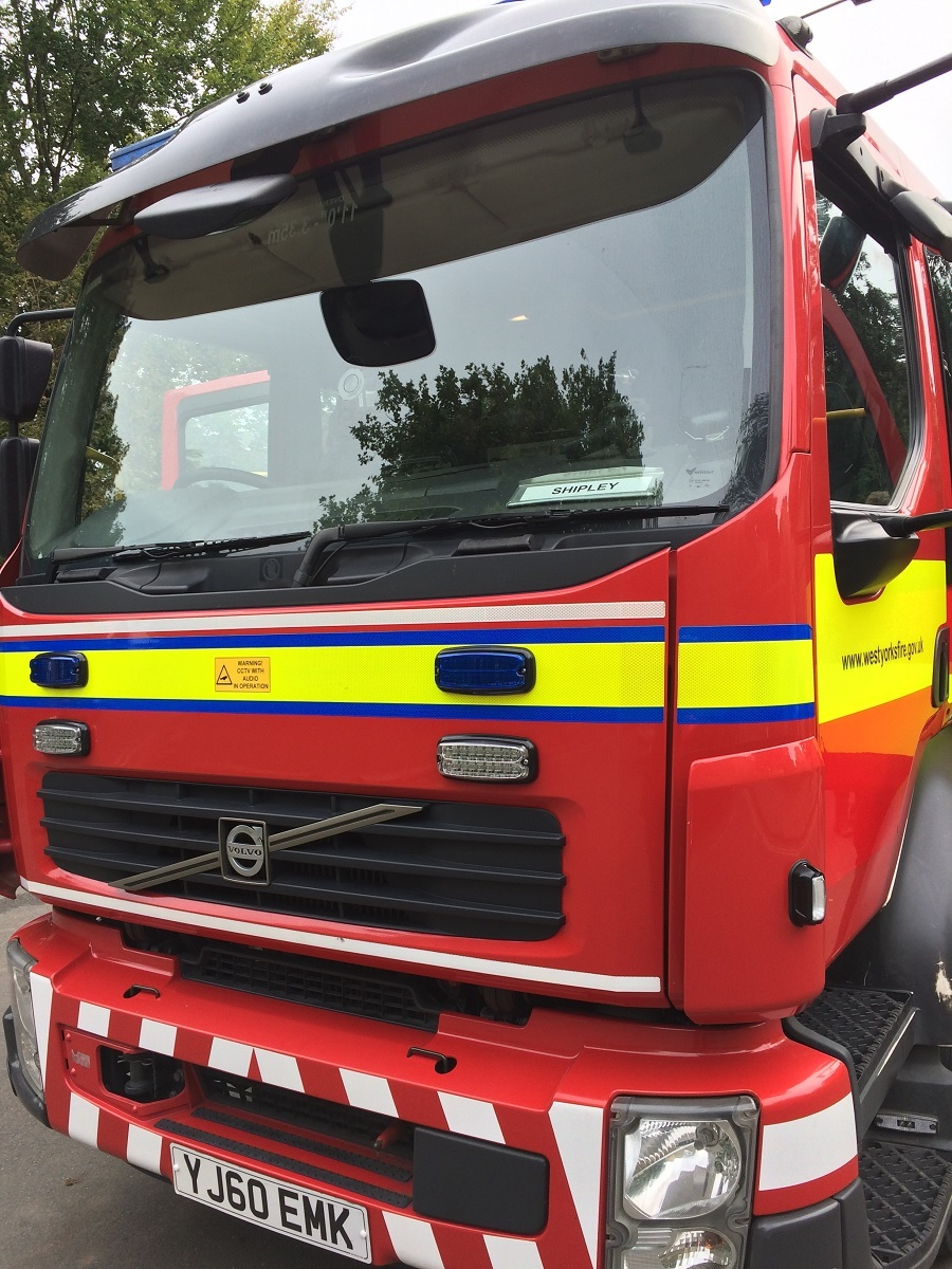 Fire crews were called to a car blaze in Keighley