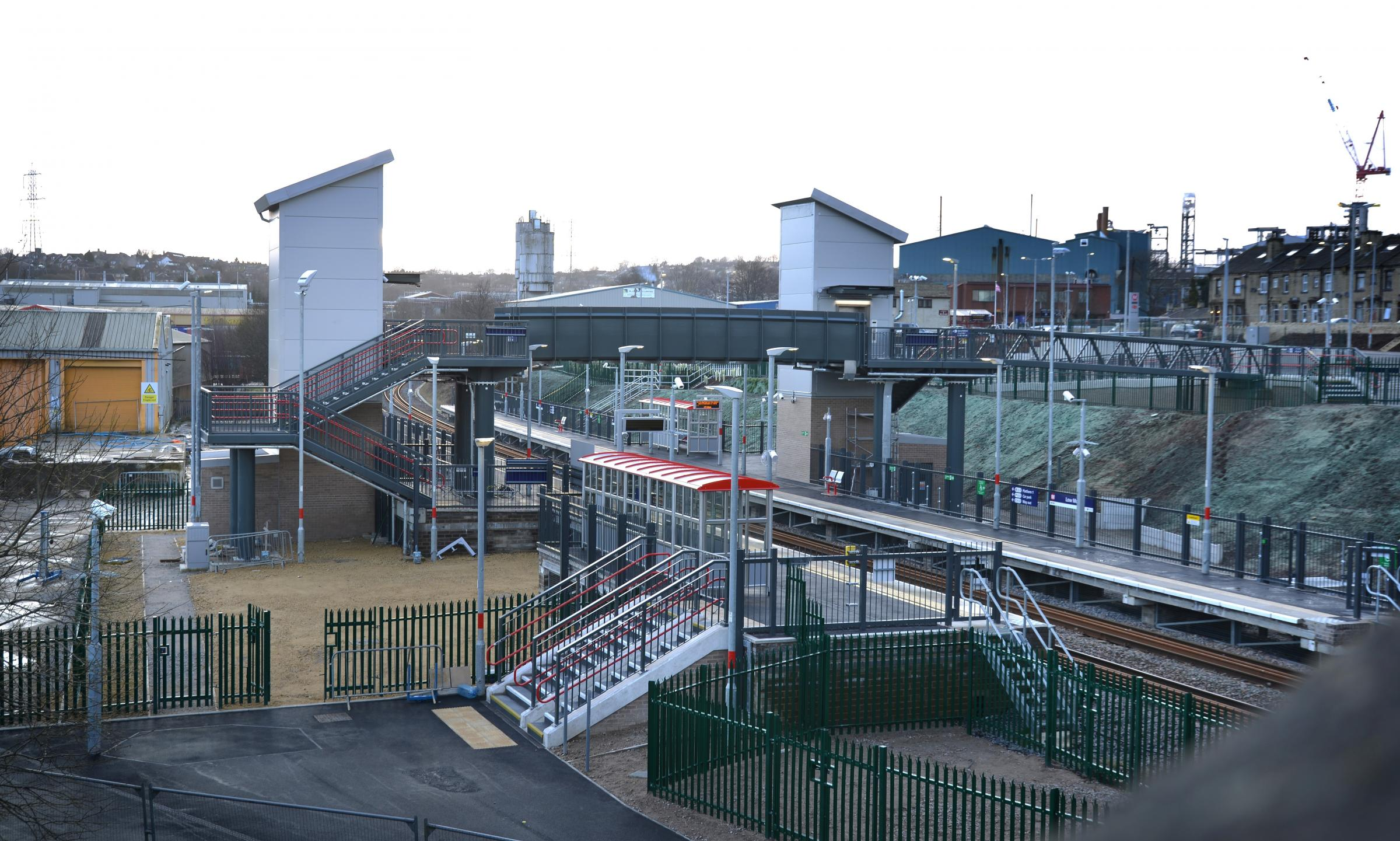 OPENING: The first trains will pass through the new £10million Low Moor railway station on April 2