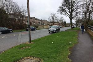 The scene of the fatal collision at the junction of Spencer Road and St Wilfrid's Crescent, Lidget Green, Bradford