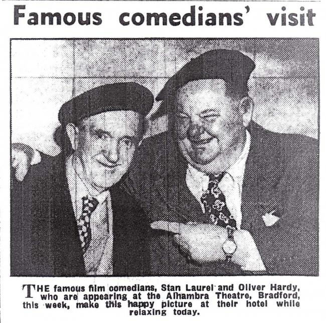 How the T&A covered Laurel and Hardy in Bradford in 1952