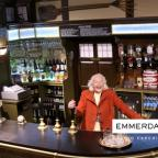 Bradford Telegraph and Argus: Betty Baker behind the bar in The Woolpack