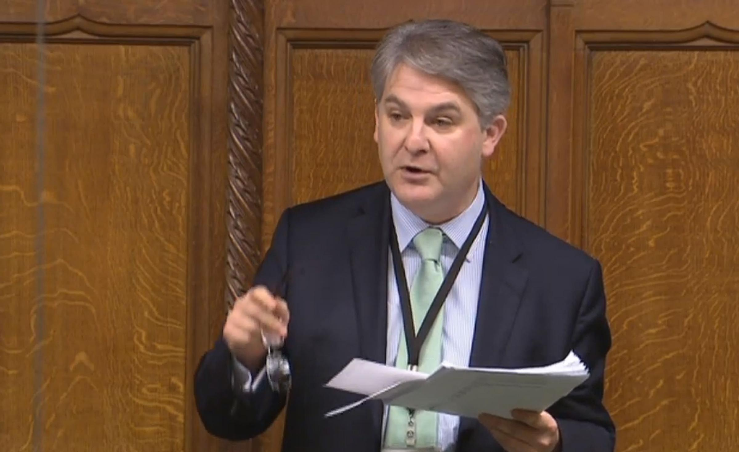 Philip Davies during a debate.