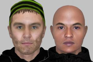 Police e-fit of attempted robbery suspects