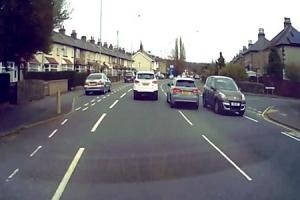 The driver of this Audi overtakes dangerously in Riddlesden
