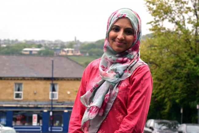 Salma Yaqoob, an independent candidate in Bradford West