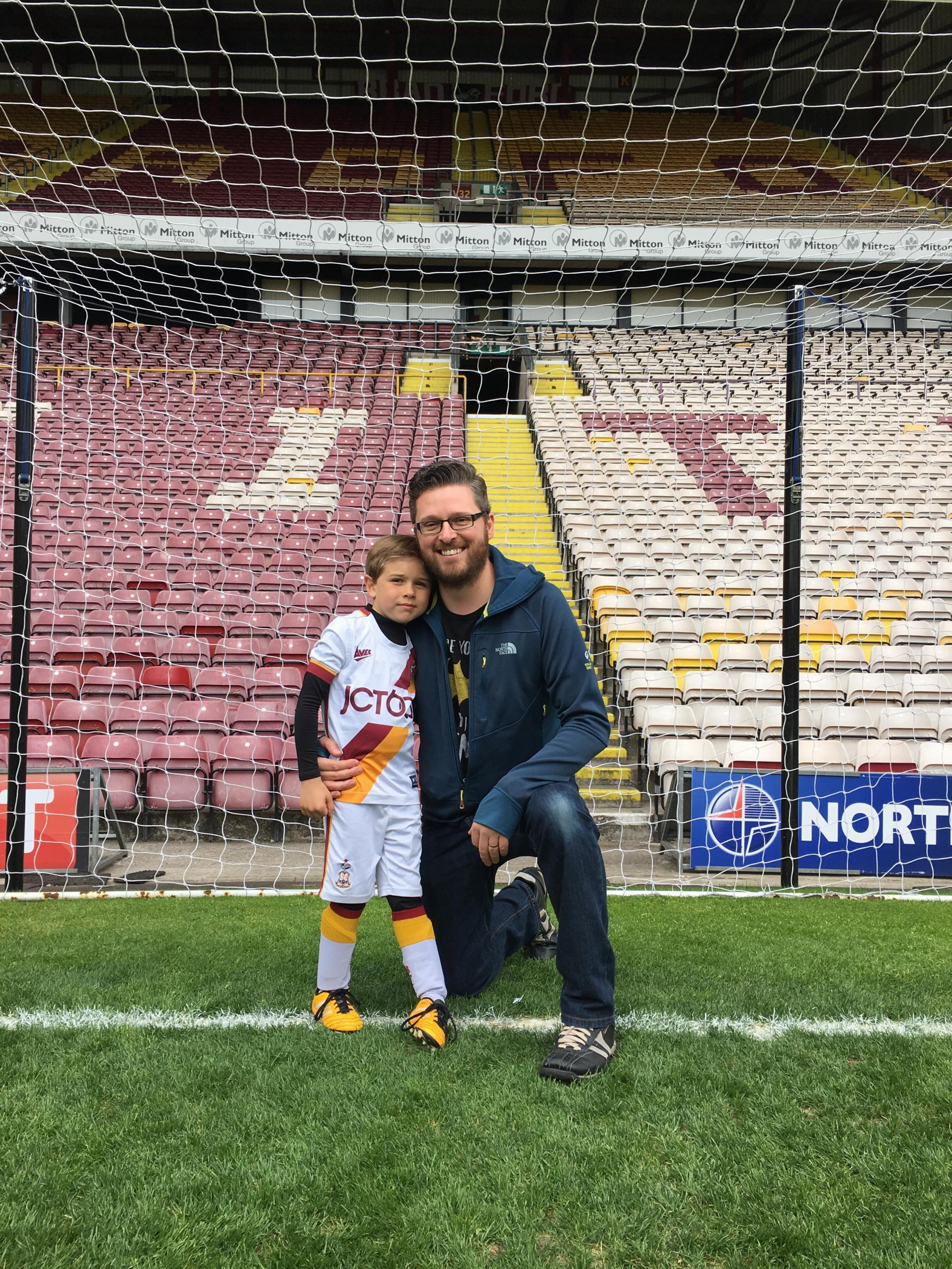 Bradford Telegraph and Argus: Good Luck for Saturday... so excited for my sons first trip to Wembley!Enjoy the game and give 100% and I'm sure we will get the result we deserve