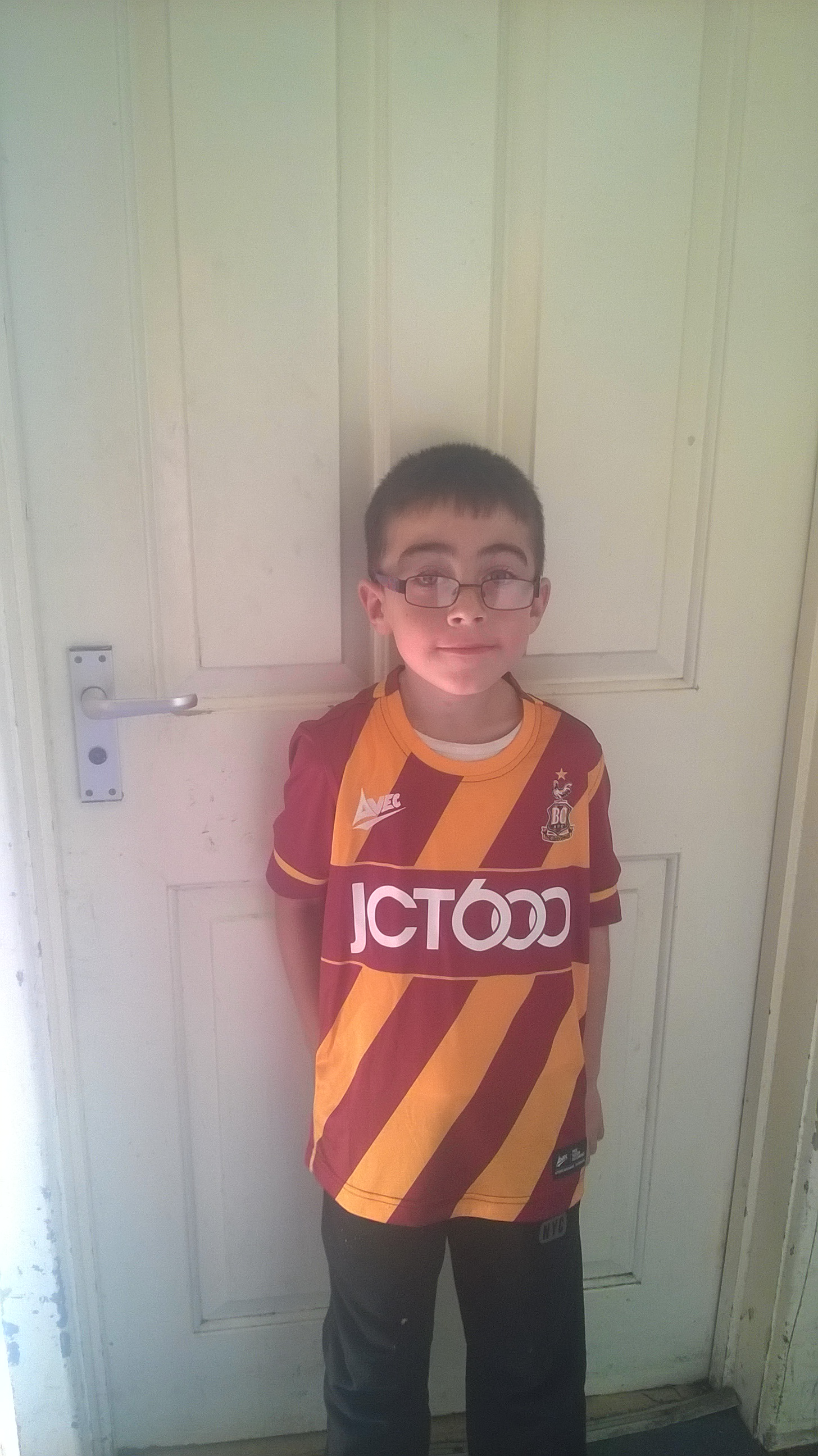 Bradford Telegraph and Argus: Good luck City,first trip to Wembley for my 7year old Kane,he can't wait!! Have a fantastic time everyone 😁 xxx