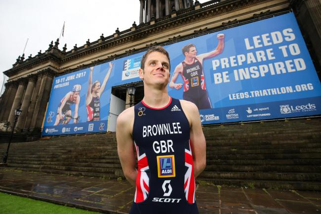 Triathlete Jonny Brownlee is delighted to rediscover that winning feeling     Picture: Barrington Coombs/PA Wire
