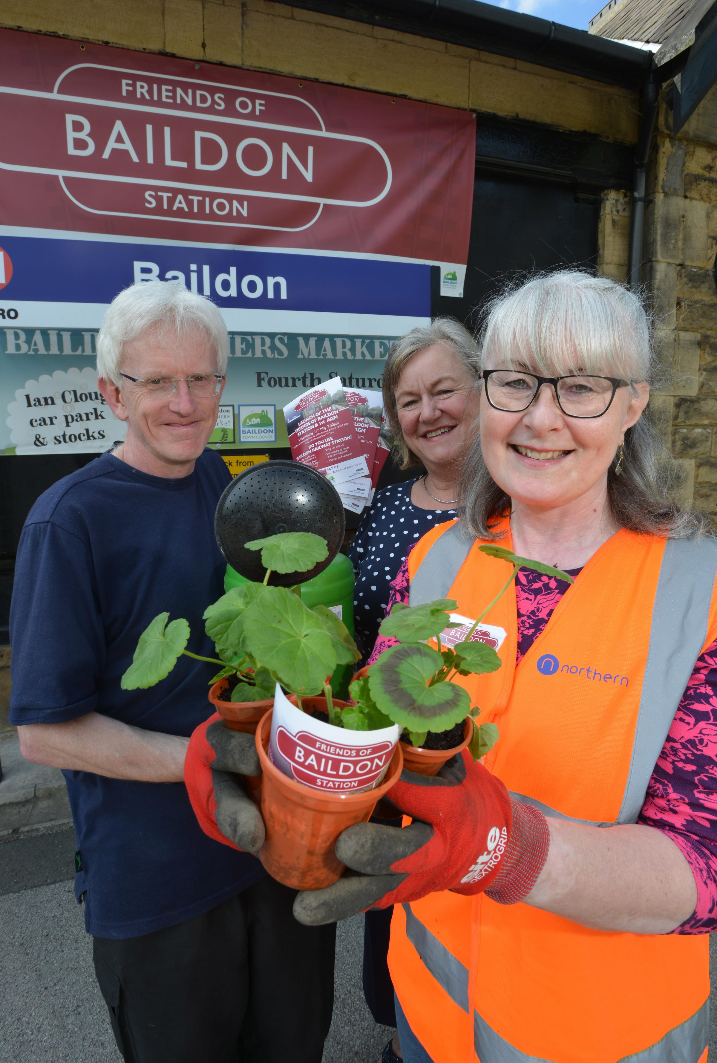 More than 50 people attended the first AGM of the Friends of Baildon Station group, including members James Craig, Gill Dixon, and Wendy Wolstenholme