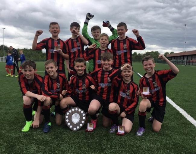 Bingley Juniors under-12s County Cup winners. Team from top left – Kian Gallagher, Thomas Linacre, Thomas Knox (GK), Logan Brown, Jay Buchan; bottom, from left, Jenson MacGregor, Joseph Carney, Harvey Kavanagh, Jack Tetley, Jed Philips, John Hollis