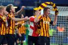 Stephen Darby, right, leads the celebrations after City's famous win at Chelsea