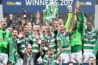 Celtic leave it late as Rogic's dramatic strike clinches treble