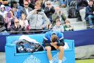 Aegon Ilkley Trophy winner Marton Fucsovics sheds a silent tear as he learns he has been awarded a wild card into the men's singles draw at Wimbledon Picture: Karen Ross Photography