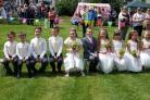 The 'royal' line-up at Lees cum Cross Roads Gala