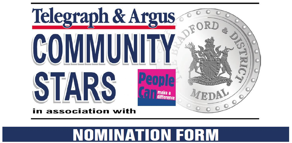 Bradford Telegraph and Argus: Community Stars Nomination Form Header