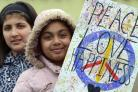 Pupils from Miriam Lord Primary school took part in a Peace Walk around Manningham