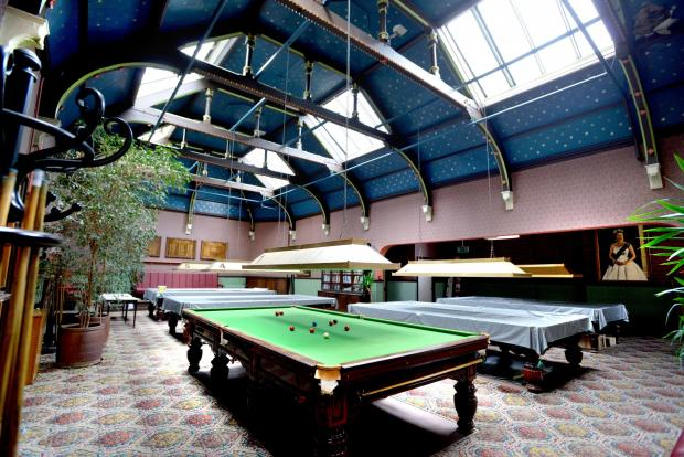 Bradford Telegraph and Argus: The top floor snooker room at the Bradford Club is still used by a snooker club