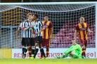 Newcastle celebrate another goal as they scored four times in the second half against City – Picture: Thomas Gadd