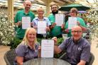 Staff at Tong Garden Centre with the regional GCA awards. Back from left, James Tolson, Helen Crossland, Asif Khan and Ann Smith. Front from left, Julie Morris and Dennis Keen