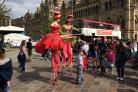 Stilt walkers entertaining crowds in City Park