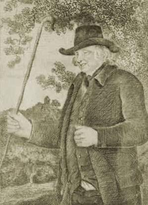 'Blind Jack' Metcalfe pictured by John Smith in an 1801 biography. Picture: public domain