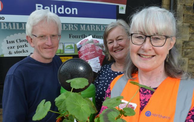 ON TRACK: From left, Friends of Baildon Station's (FOBS) James Craig, Gill Dixon and Wendy Wolstenholme