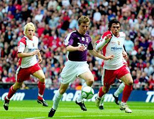 FOND MEMORIES: Ex-York City forward Adam Boyes admits that he loved his time with the club, which included playing against Stevenage at Wembley in the 2009 FA Trophy play-off final at the age of 19