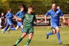Ben Clarkson was on target again for Steeton Picture: John Chapman