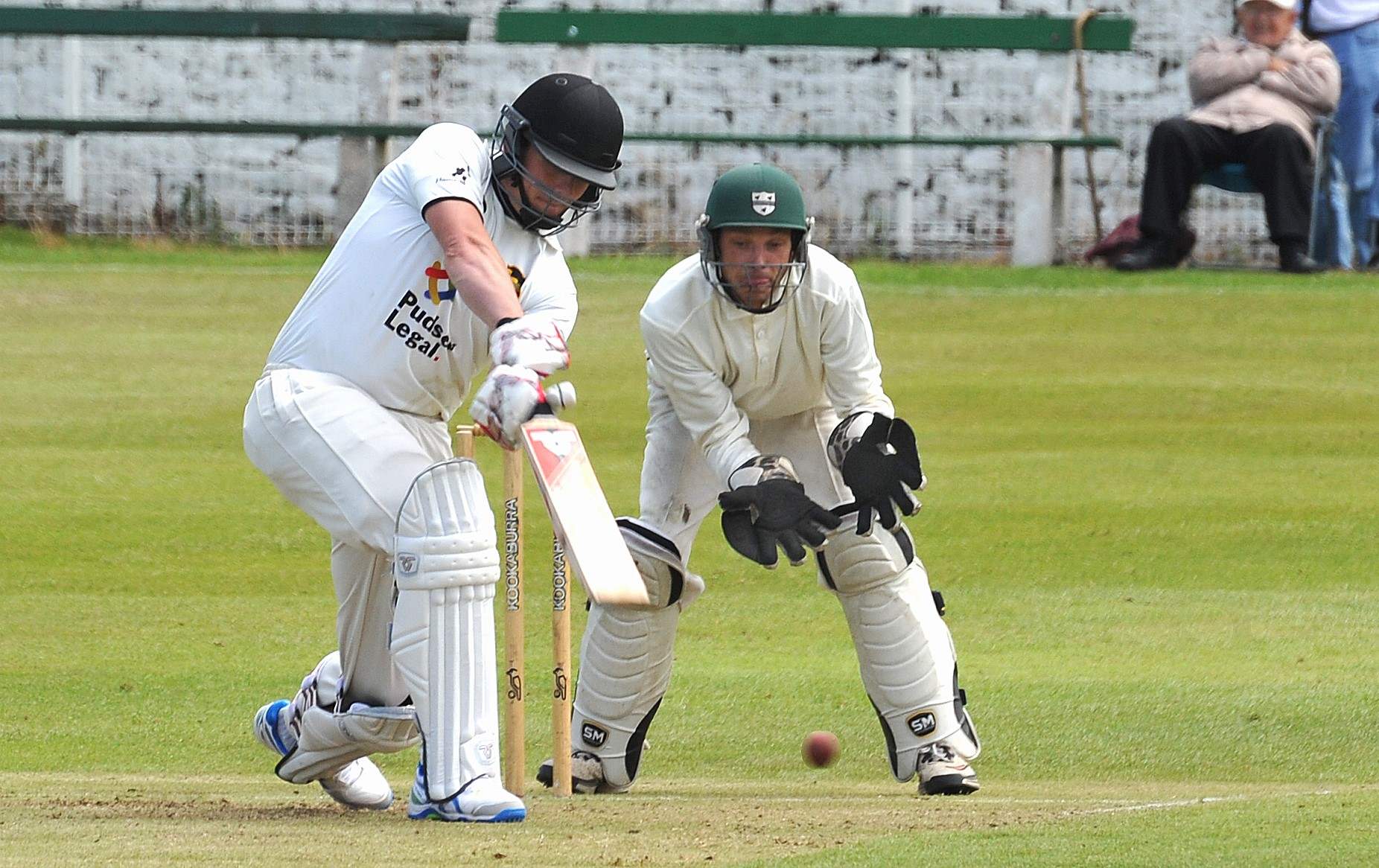 Pudsey St Lawrence's Mark Robertshaw scored 85 before being out within sight of victory