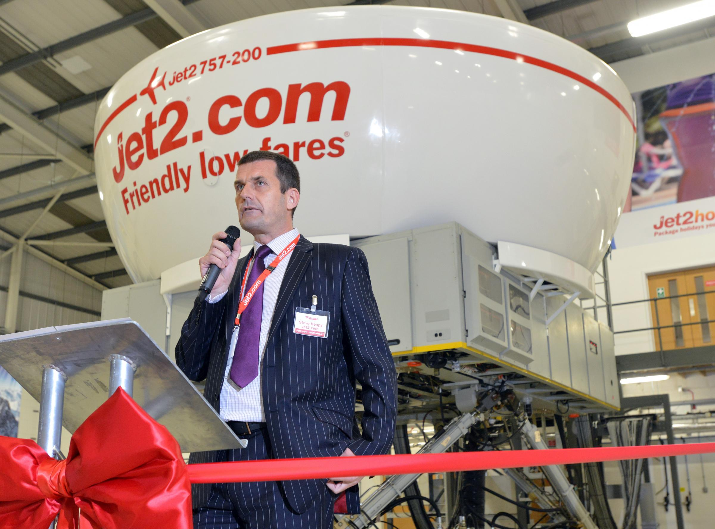 Steve Heapy, Jet2.com chief executive, has announced more than 300 jobs are coming to Leeds Bradford Airport