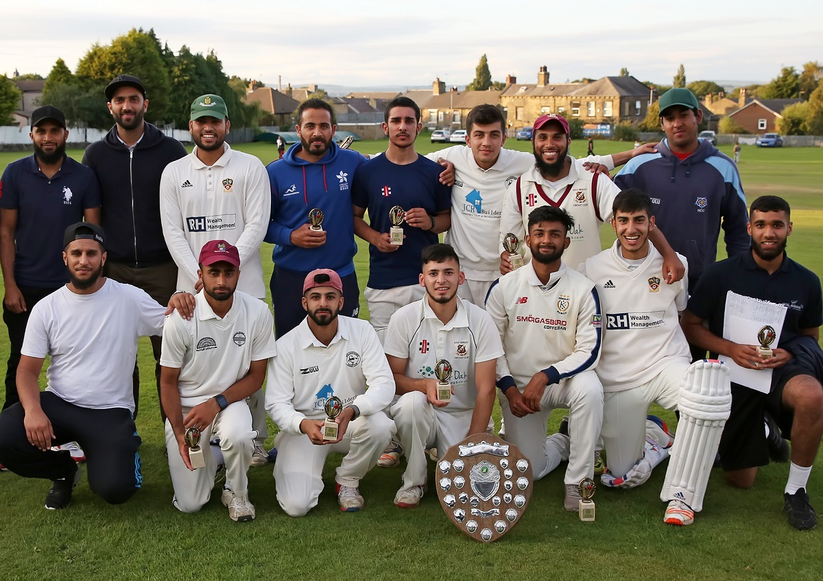 Adil Rashid Cricket Academy after winning the Bradford & District Evening League finals day final by one wicket against Ciroc at Great Horton Park Chapel Picture: Alex Daniel Photography