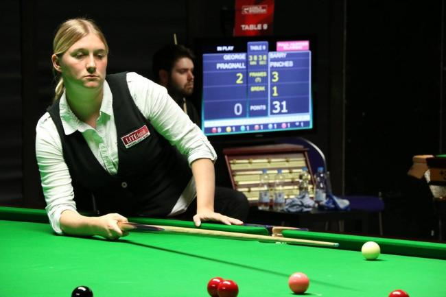 Rebecca Kenna was a re-spotted black away from qualifying for the last 32 of the inaugural World Snooker Federation mixed gender championship Picture: World Ladies Billiards and Snooker