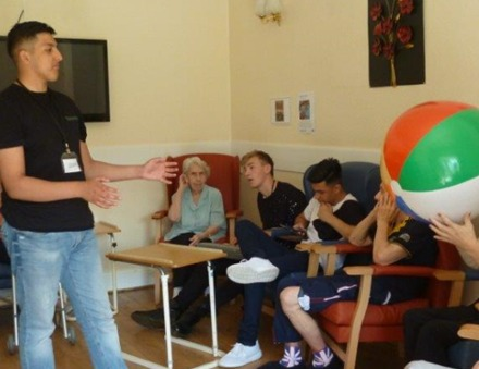 Young people from the National Citizenship Scheme are visiting Bradford care homes