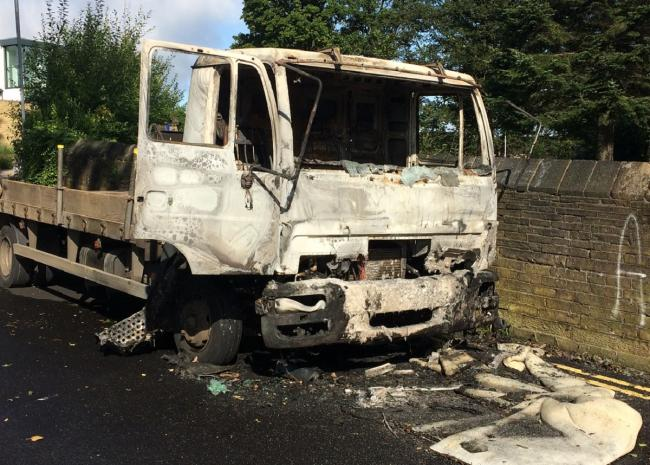 Lorry cab destroyed in early morning fire