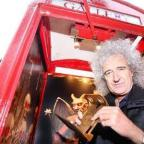 Bradford Telegraph and Argus: Queen guitarist, Brian May, at the kiosk gallery in 2013