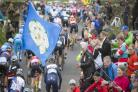Riders cycle up the Cote de Lofthouse during the 2017 Tour de Yorkshire