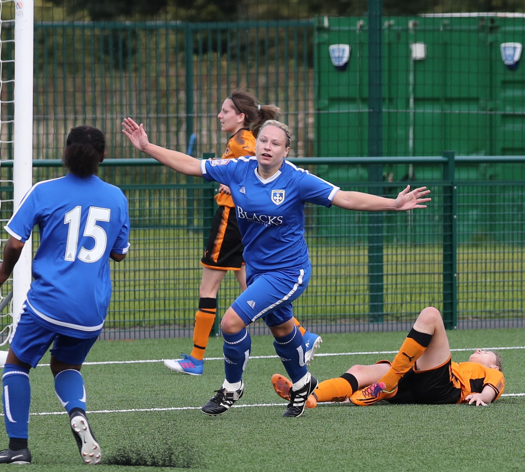 Nikki Berko was on the scoresheet for Guiseley Vixens in their defeat to West Brom