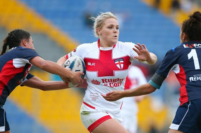 Bulls player Amy Hardcastle scored a late try for Yorkshire in the second Origin match