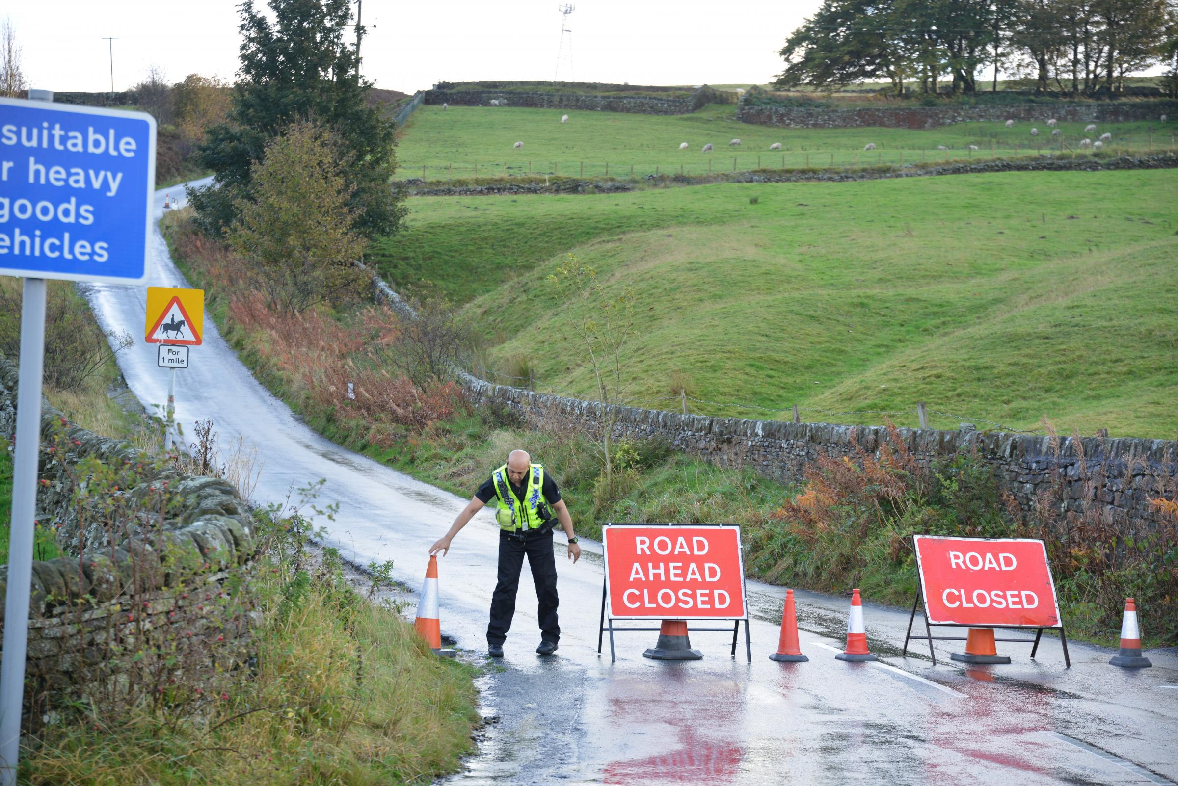 Moorland was cordoned off by police
