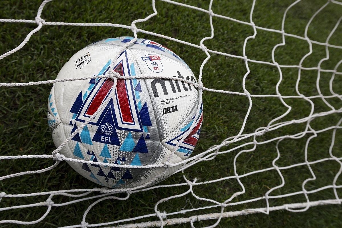 EFL Mitre match ball in the goal net during the EFL Sky Bet League 1 match between Bury and Bradford City at the Energy Check Stadium at Gigg Lane, Bury, England on 14 October 2017. Photo by Richard Holmes
