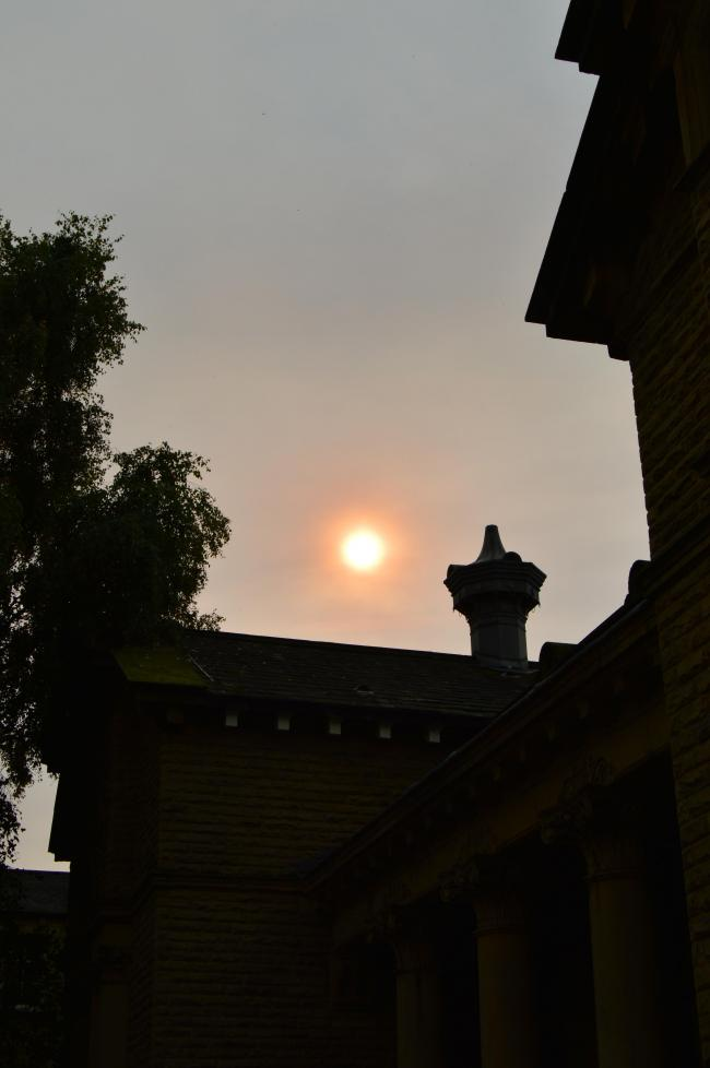 Red sun over Shipley College