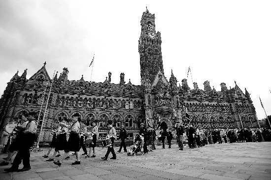 The Spen Valley Scout & Guide Band performing at the Lord Mayor's Civic Service in Bradford in 2008