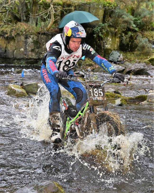 Dougie Lampkin on his way to a fifth Scott Trial victory   Picture: Barry Robinson
