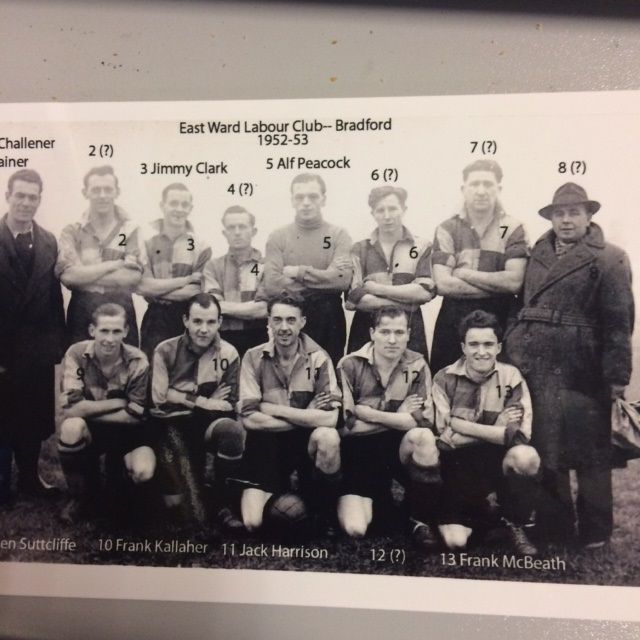 East Ward Labour Club football team 1952-53